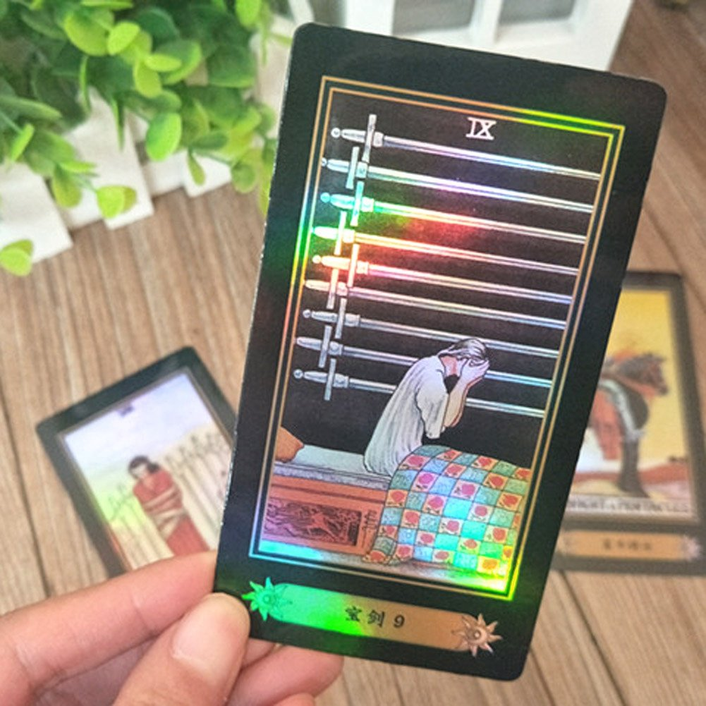 DDZ Tarot Cards, Rider Waite Tarot Cards, 78 Tarot Cards Future Telling  Game with Colorful Box