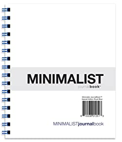 """Action Publishing Minimalist JournalBook - Special Edition Royal Blue (7"""" x 8.5"""") Side-Bound Journaling Notebook - Durable Quality, Dotted Line Paper"""