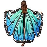 HLHN schmetterling kostüm, Frauen Schmetterling Flügel Schal Schals Nymphe Pixie Poncho Kostüm Zubehör für Show/Daily / Party
