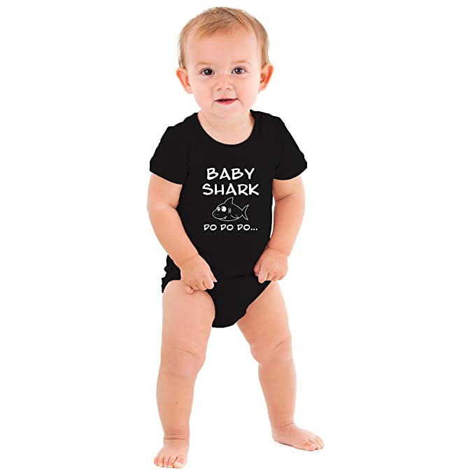a5661a38 Baby Shark Baby Boy Girl Toddler Jumpsuit Bodysuit Clothes Outfit NB-24M ( Black,