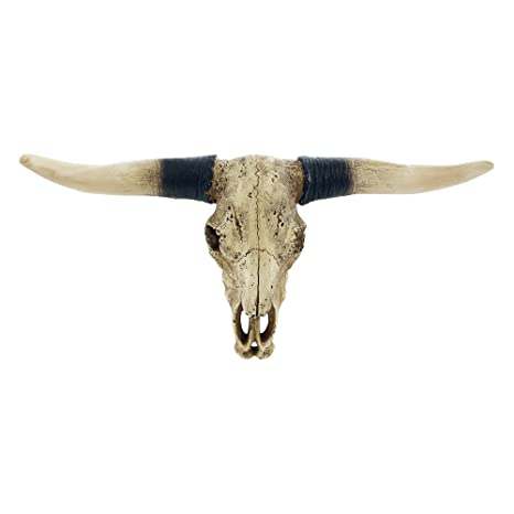 Pine Ridge Southwestern Bull Longhorn Skull Steer Bull Head Rustic Chic Wall Hanging Texas Decoration Polyresin Steer Horns For Wall Sculpture