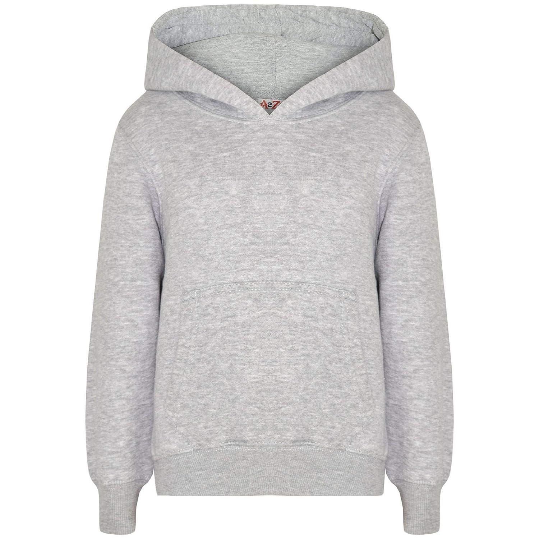 0fca7f17 Amazon.com: Kids Girls Boys Sweatshirt Tops Plain Grey Hooded ...