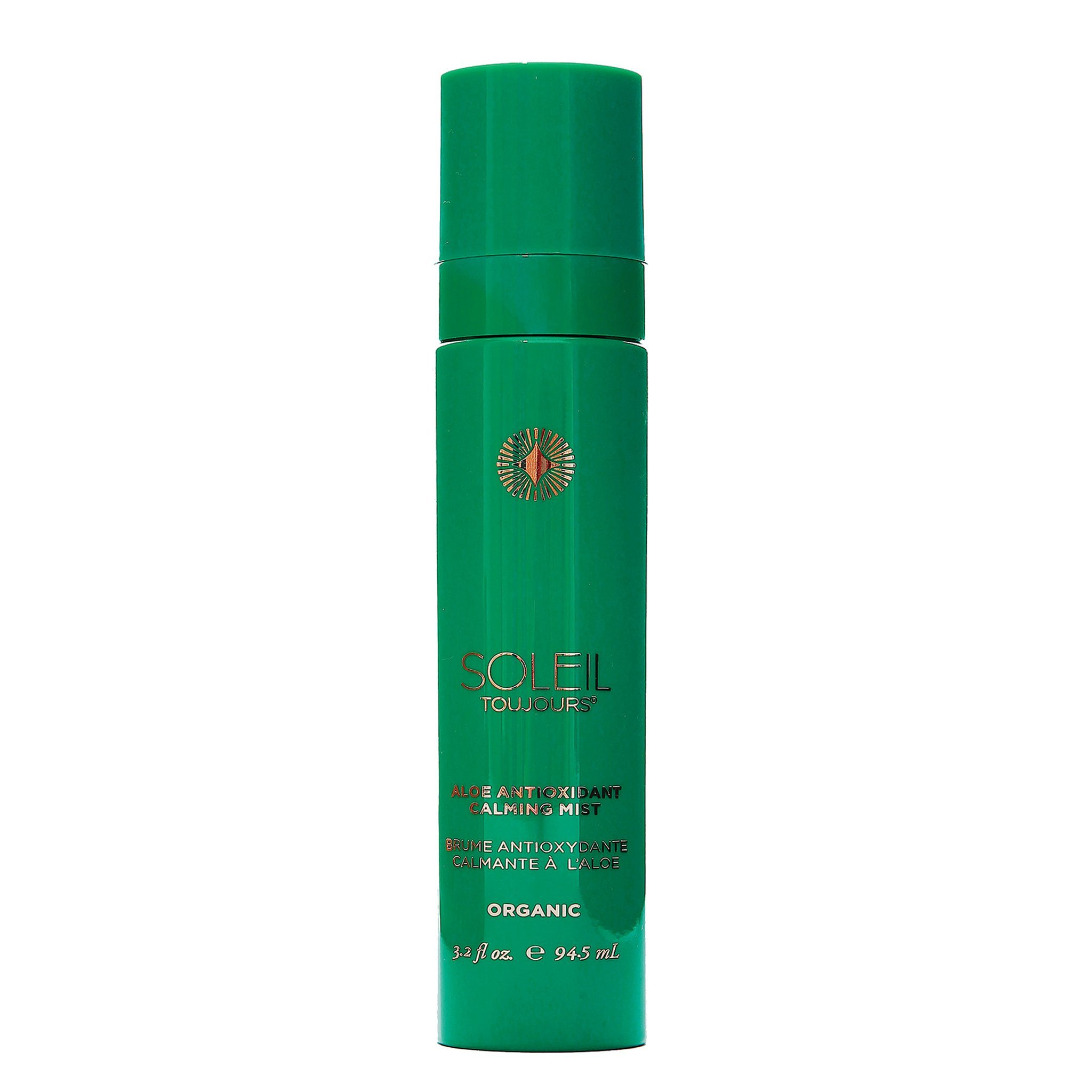 Soleil Toujours Organic 100% Natural Hypoallergenic Aloe Antioxidant Calming Mist, 3.2 Fl. Oz.
