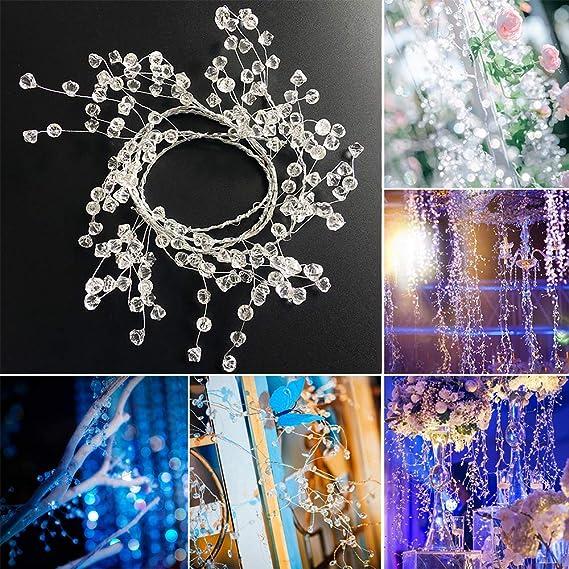 2stk DIY Kristall Girlande Perlenvorhang Hängende Dekoration für