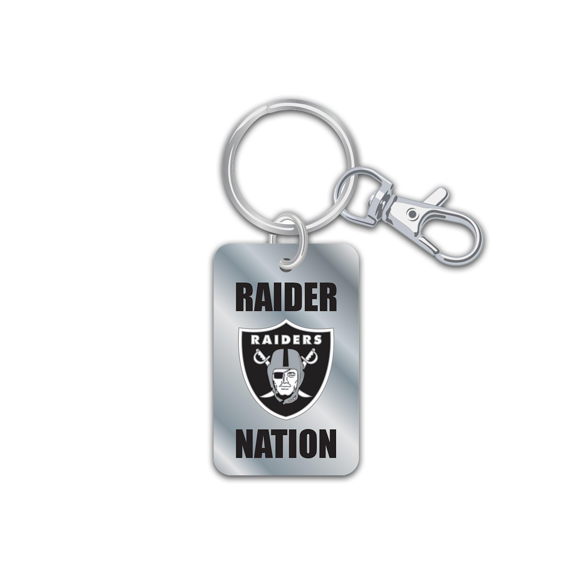 aminco NFL Oakland Raiders Slogan Keychain