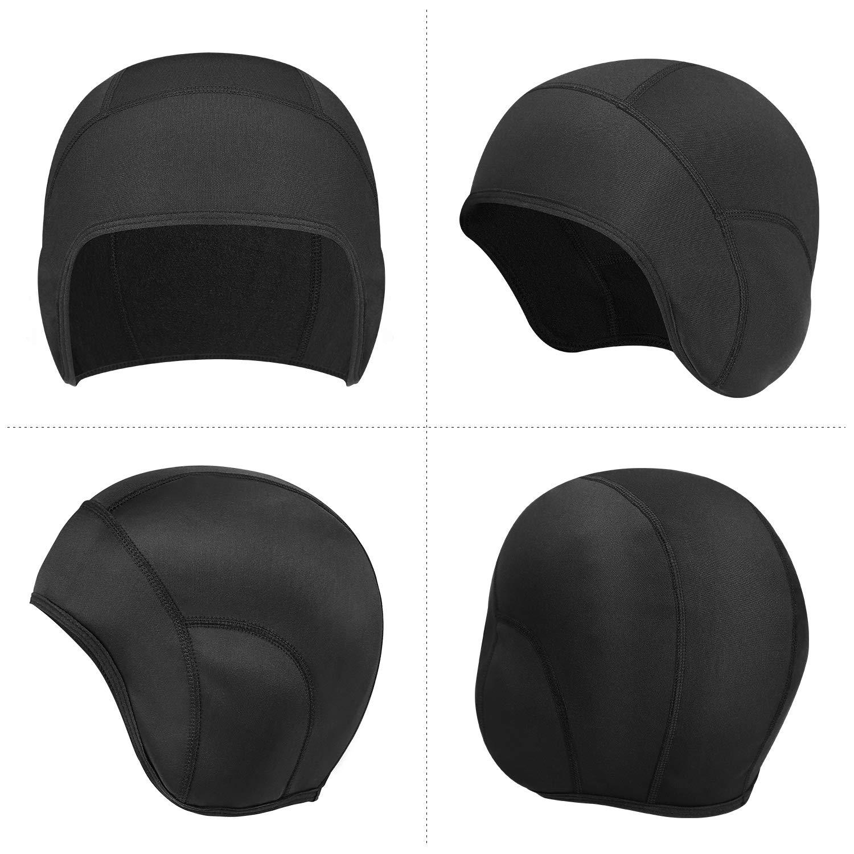 Grigio KUTOOK Berretto Sottocasco Antivento Anti Sudore elastico Ideale per Ciclismo Moto Corsa Unisex