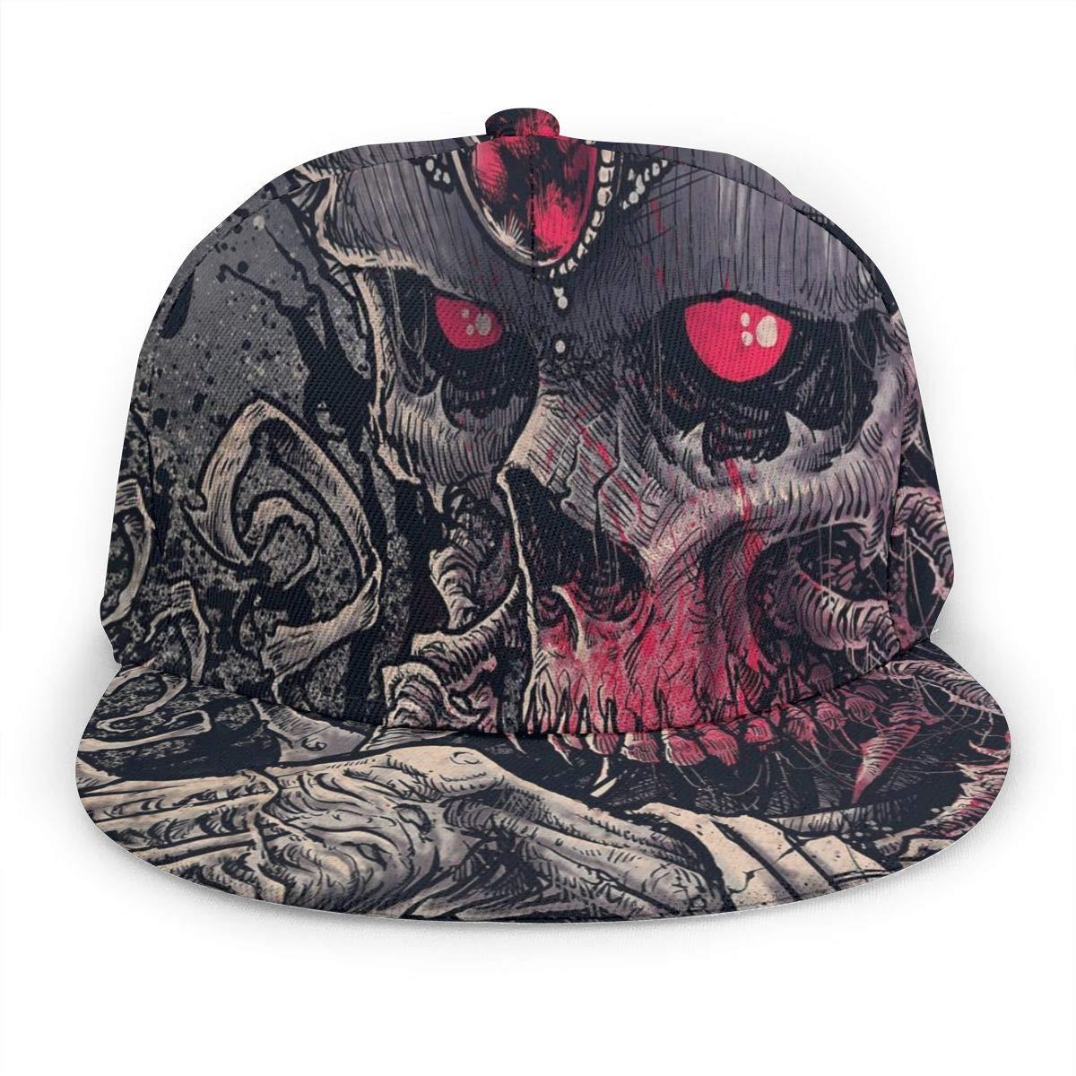 Cool Dark Skull Denim Dad Cap Baseball Hat Adjustable Sun Cap Hip Pop Hat