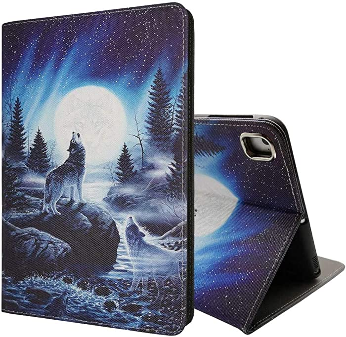 iPad 9.7 inch 2018/2017 Case, iPad Air Case, iPad Air 2 Case, Pro 9.7 Case, PU Leather Magnetic Stand Smart Cover with Auto Sleep Wake Case for iPad 6th/5th Gen/iPad Pro 9.7, Wolf Roar