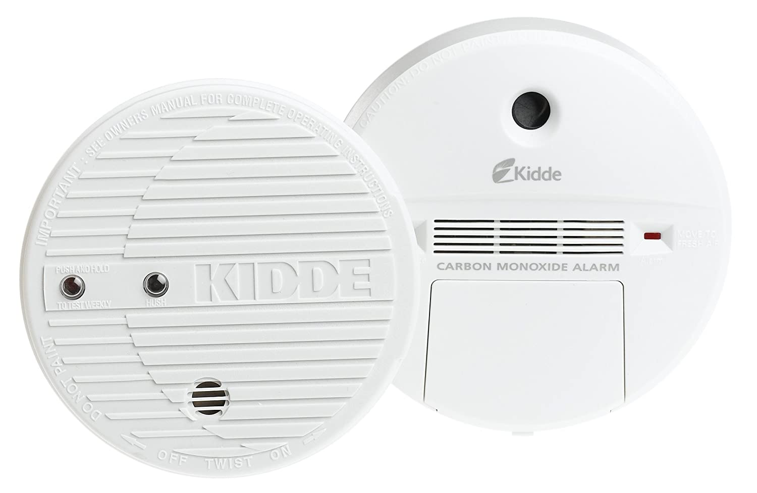 Kidde Carbon Monoxide (KN-COB-B) and Smoke Alarm (0916) Value Pack -  Combination Smoke Carbon Monoxide Detectors - Amazon.com