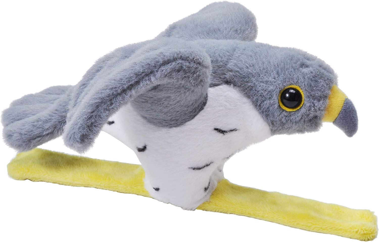 Plush Toy 9 Inches Wild Republic High Flyer Peregrine Falcon with Sound on a Snap Bracelet Fill is Spun Recycled Water Bottles Gift for Kids