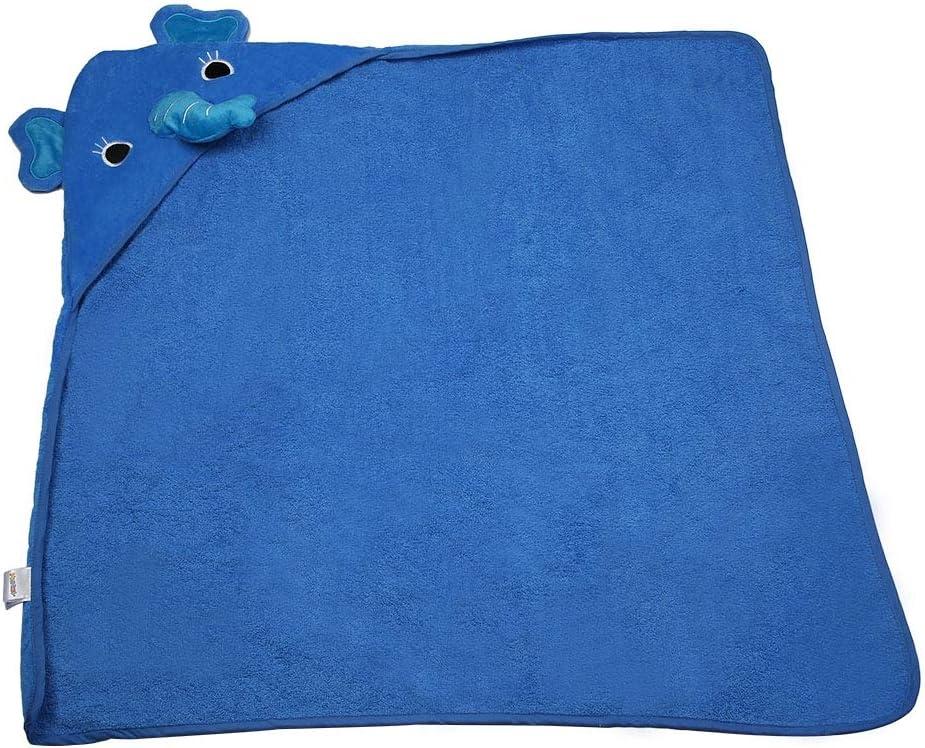 Blue//Elephant suave y transpirable puro algod/ón modelo animal para Beb/é Albornoz Toalla de dibujos animados de Ni/ños Toalla de ba/ño con capucha Manta del beb/é