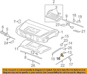 Amazon Com 2003 09 Genuine Hummer H2 Ebony Black Front Hood Latch 15097841 Automotive