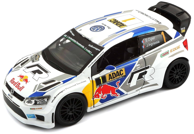 Tobar Maßstab: 1: 32Rally 2014VW Polo R WRC Team Zahl 2, 5cm Auto 5cm Auto Bburago B18-41047