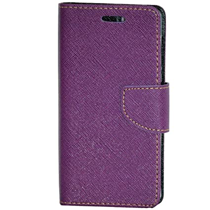 timeless design 291a7 5a41d Zaoma Diary Type Flip Cover for Lava X17 4G - Purple