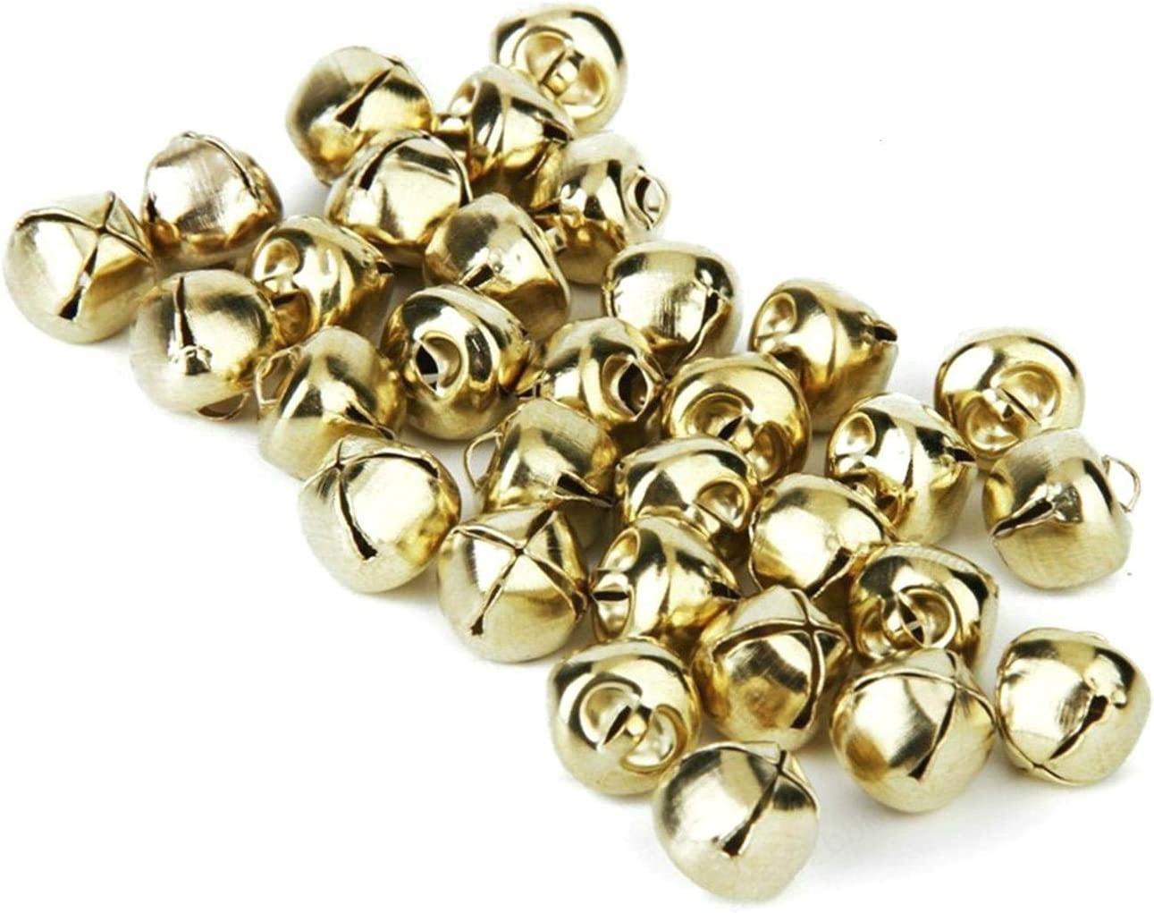 Gold Tone 100 St/ück Wuyee Jingle Bells Small Bells Metall Zubeh/ör f/ür Schmuckherstellung Anh/änger Weihnachtsdekoration Craft DIY