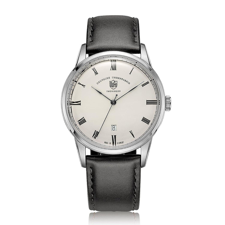 Dufa Deutsche Uhrenfabrik Unisex-Armbanduhr Analog Quarz Leder Weimar DF-9008-02