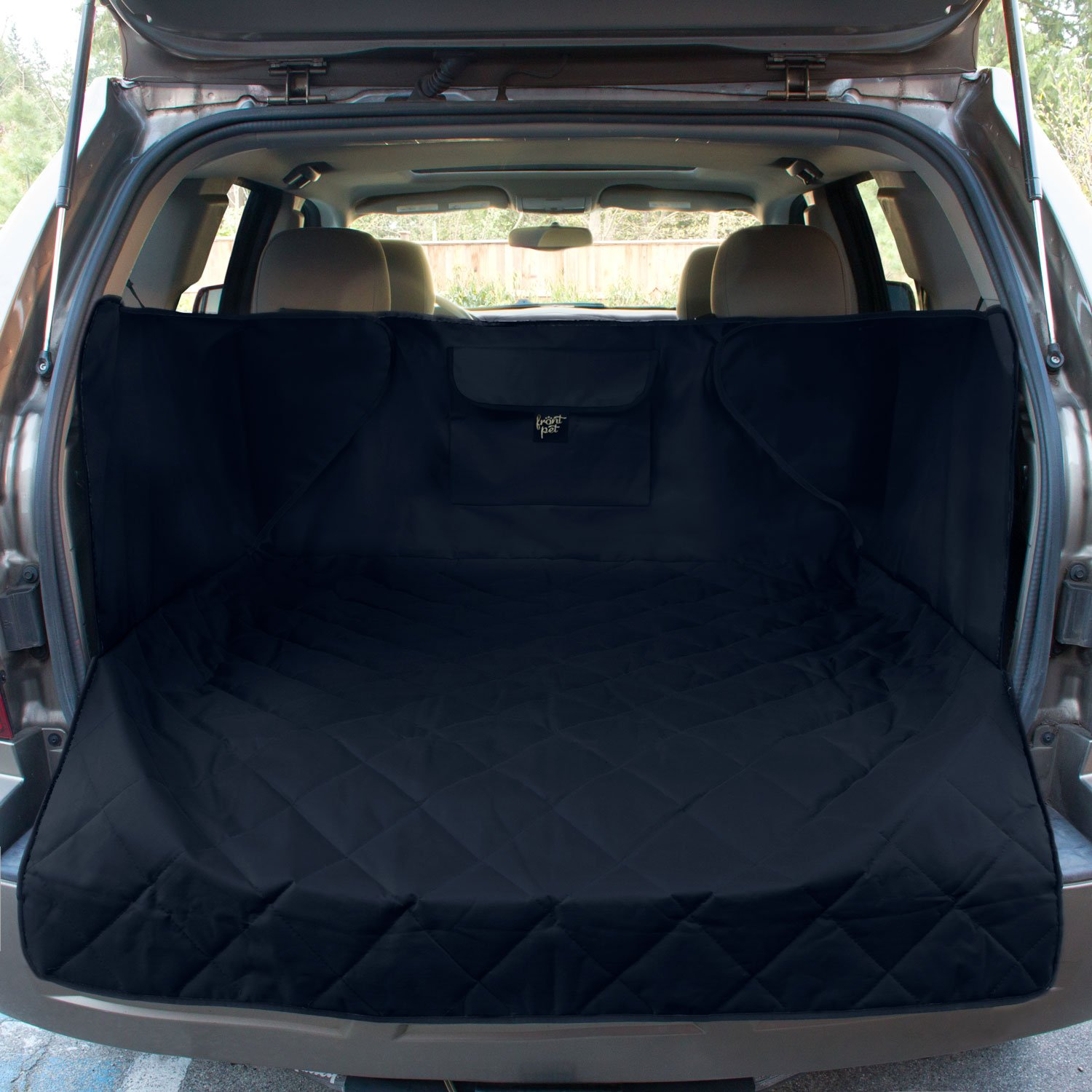 FrontPet Extended Width Quilted Dog Cargo Cover for SUV Universal Fit for Any Animal. Durable Liner Covers and Protects Your Vehicle by FrontPet (Image #1)
