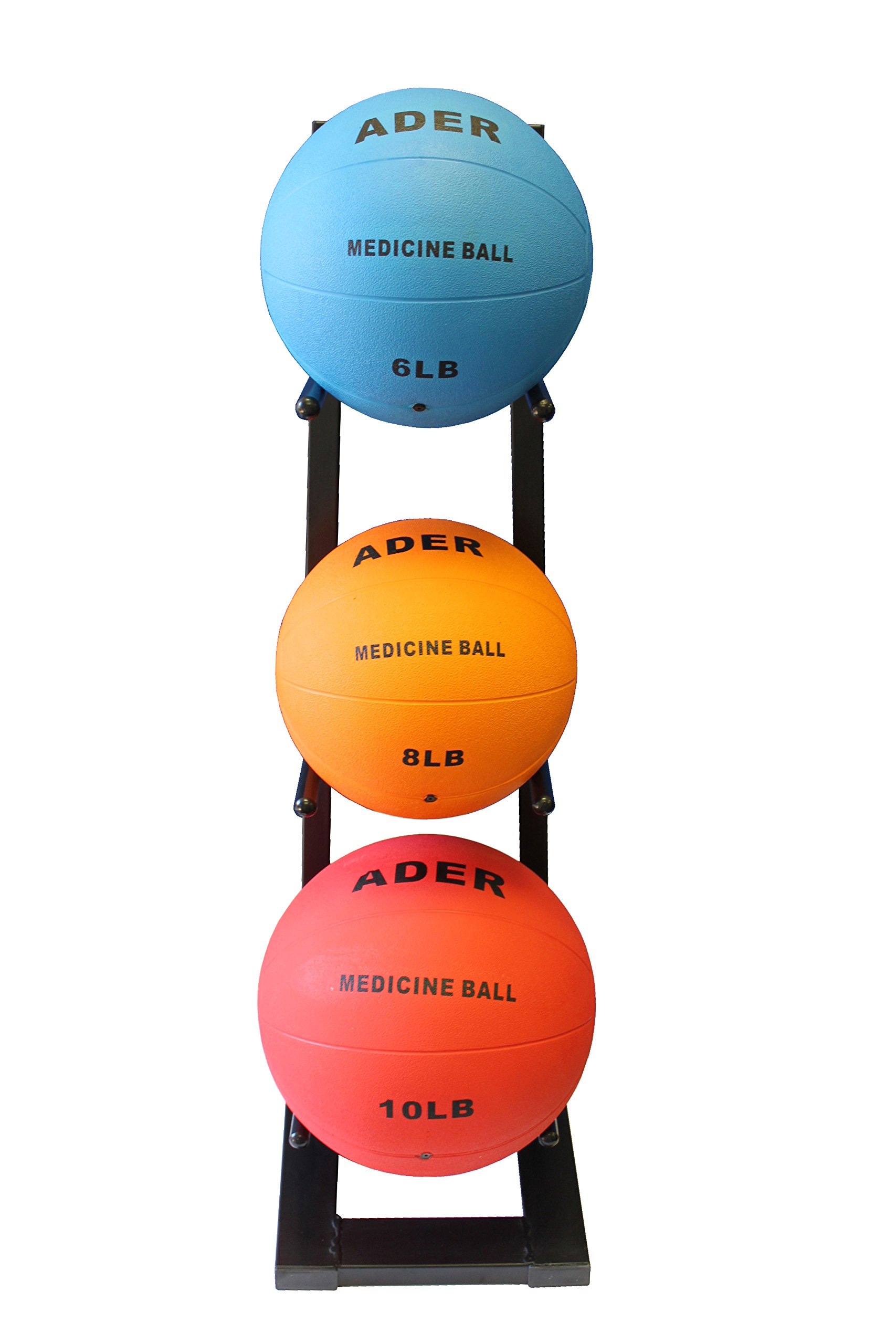 Ader Medicine Ball Set w/Rack (Rack + 8-12-25 LB Med Balls) by Ader Sporting Goods (Image #2)