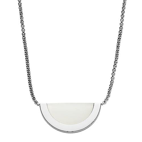 Skagen Collar cadena de mujer con acero inoxidable: Amazon ...