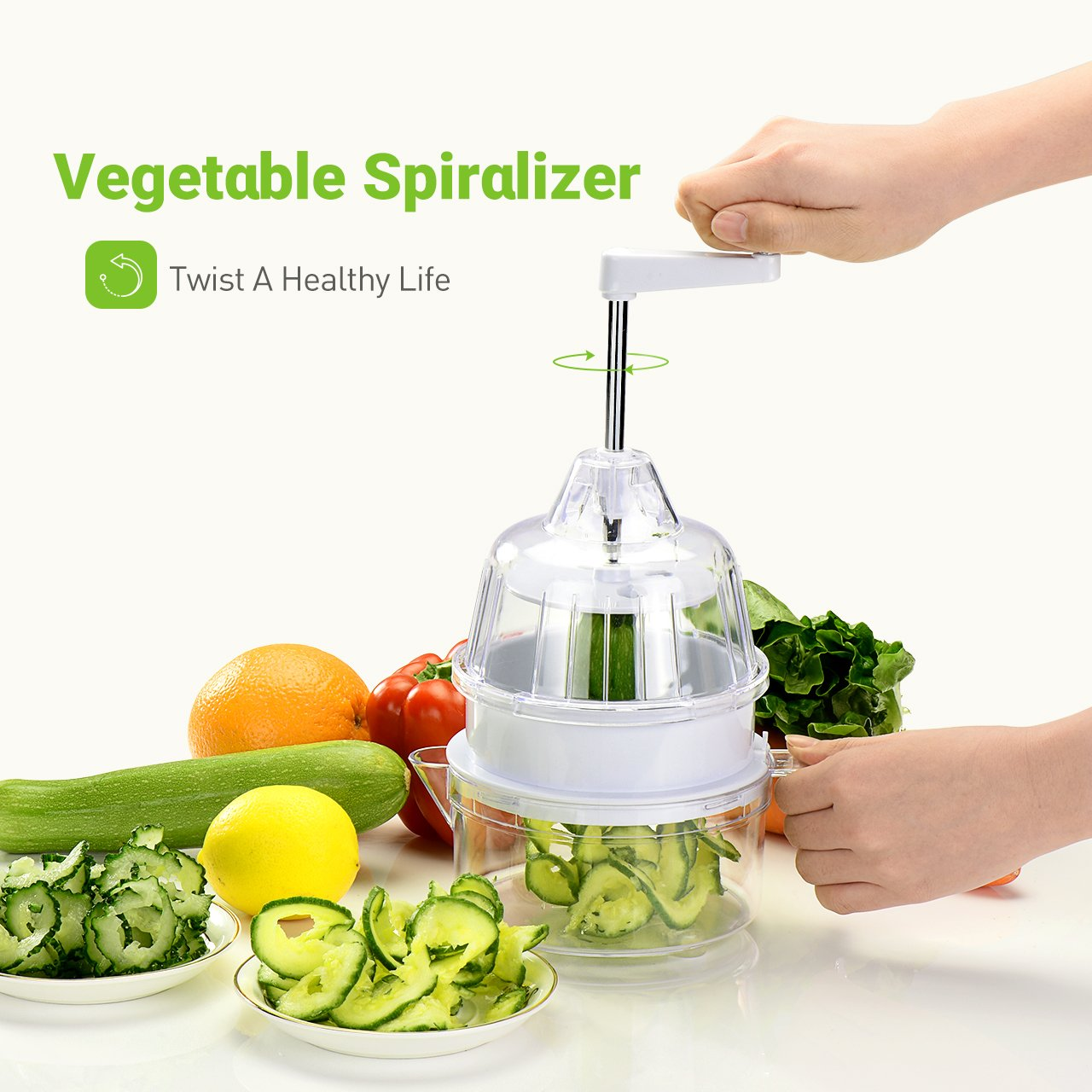 Amazon.com: Mpow Vegetable Slicer, 5-Blade Veggie Spiralizer with ...