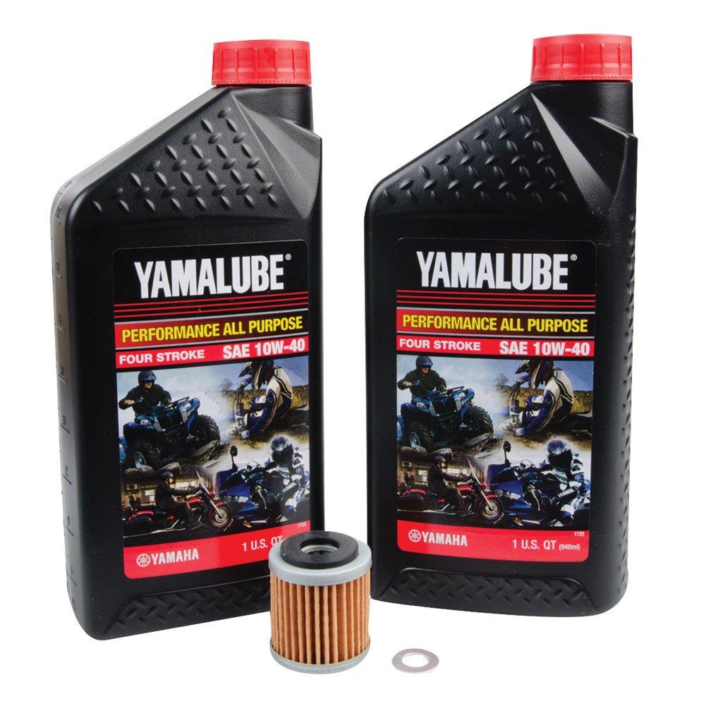 Tusk 4-Stroke Oil Change Kit Yamalube All Purpose 10W-40 - Fits: Yamaha WR250F 2015-2019
