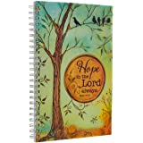 """Hope in the Lord"" Printed PVC Cover Wirebound Journal / Notebook - Isaiah 40:31"