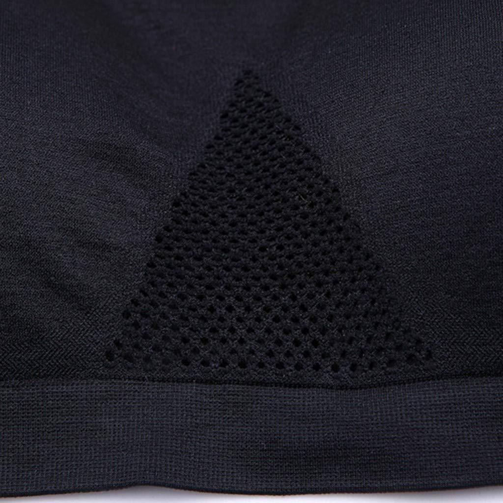 Maglietta Corta Modaworld Canotte e Top da Donna Estate Incrociato con Reggiseno Imbottito Yoga Palestra,per la Spiaggia White Corsetto Canottiera