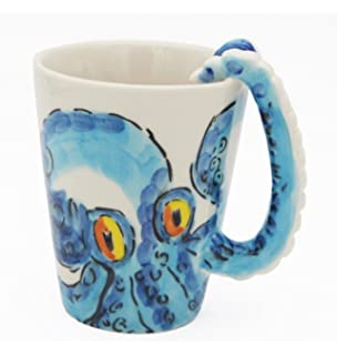 homee handmade creative art coffee mug ceramic milk cups ocean style octopus