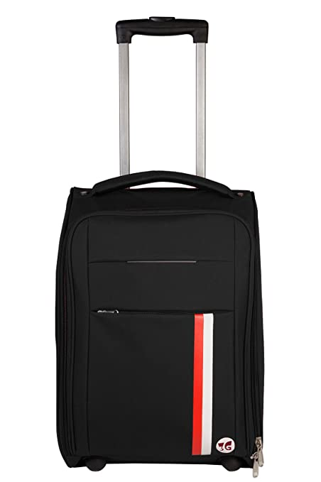 3G 20 inch/55 cm Fabric Black Cabin Luggage Bag