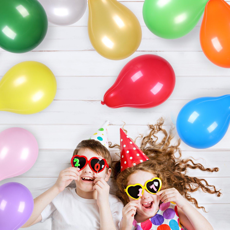 Compleanni per Adulti 5 Pollici Mix-Colore Palloncini in Lattice Decorazione Bambini Matrimonio Jovitec 200 Pezzi Palloncini in Lattice Festa di Laurea o Qualsiasi Celebrazione Baby Showers