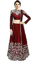 Palli Fashion silk Lehenga Choli (Shilpa Pink_Pink_Free Size)