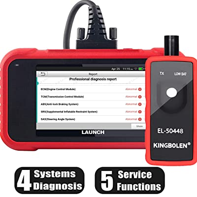 LAUNCH OBD2 Scanner CRP129E Car Code Reader for Engine/ABS/SRS/Transmission Systems with Oil lamp/EPB/SAS/TPMS/TPS Reset,Auto VIN,Free Update + TPMS Tool EL-50448,Advanced Version of CRP129: Automotive