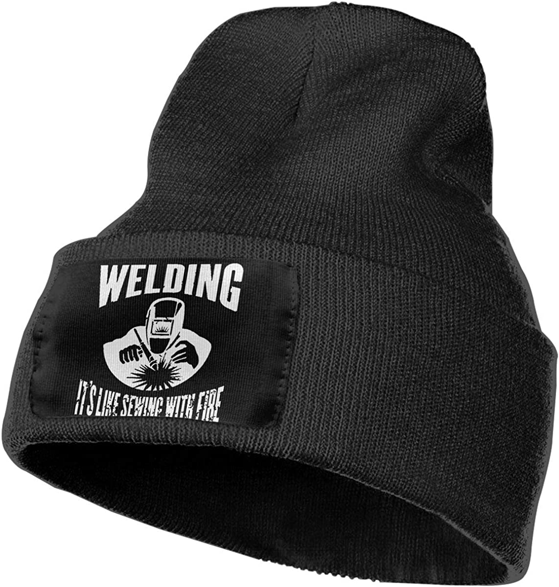 Classic Welding Its Like Sewing with Fire Warm Winter Hat Knit Beanie Skull Cap Cuff Beanie Hat Winter Hats for Men /& Women