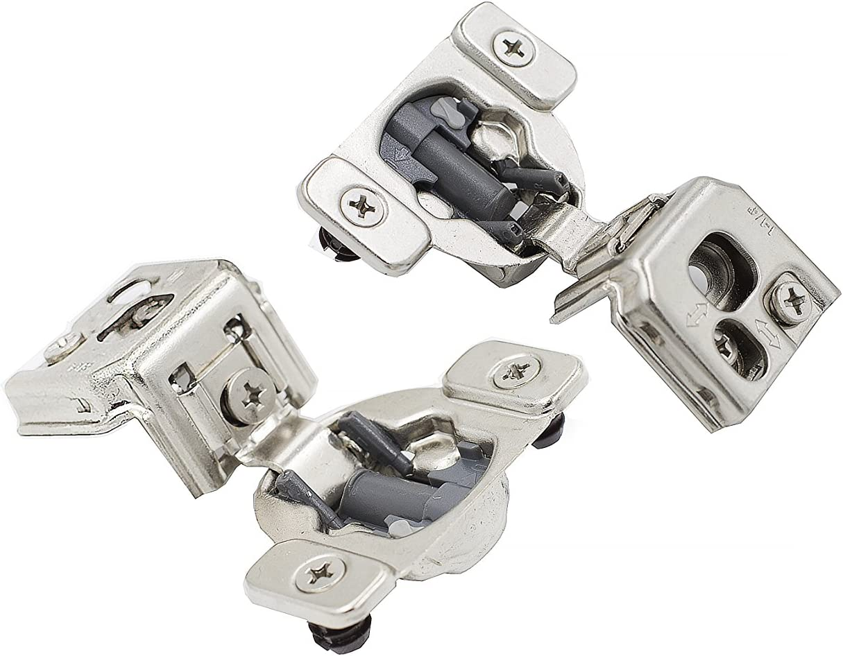 Screws Are Included Comet Pro Hardware E95 1-1//4 Adjustable Cabinet Hinges Full Overlay Soft Close Nickel Plated Steel 10 Pack