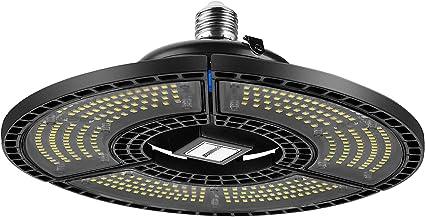 SUNMEG UFO LED Lámpara de Garaje, 80W Focos Led Interior Techo 6000K Blanco Frío, 9600LM Lámpara Alta Bahía Deformable Lámpara Industrial: Amazon.es: Iluminación