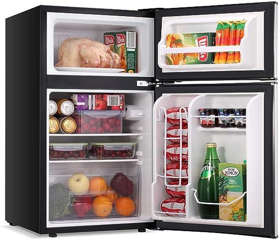 LEONARD USA 115 L Inverter Double Door Mini Refrigerator / Small Fridge with Separate Deep Freezer Compartment