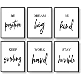 Arte de pared inspiracional, arte de pared motivacional, decoración de pared de oficina, arte de pared para sala de estar y d