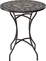 Cortesi Home CH-DT700108 Maxwell Outdoor Square Folding Table Slate Grey