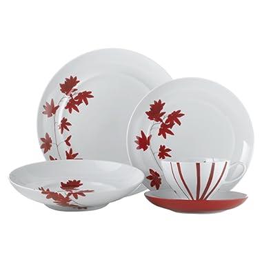 Mikasa Pure Red 20 Piece Dinnerware Set (Set of 4), Assorted