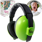 Fridaybaby Baby Ear Protection (0-2+ Years) - Comfortable and Adjustable Baby Ear Muffs Noise Protection for Infants & Newborns   Baby Headphones Noise Reduction for Concerts Fireworks Travels (Green)