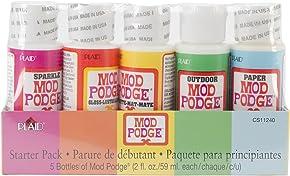 Mod Podge Waterbase Sealer, Glue Finish Starter Pack (2-Ounce), CS11240 Clear Finish