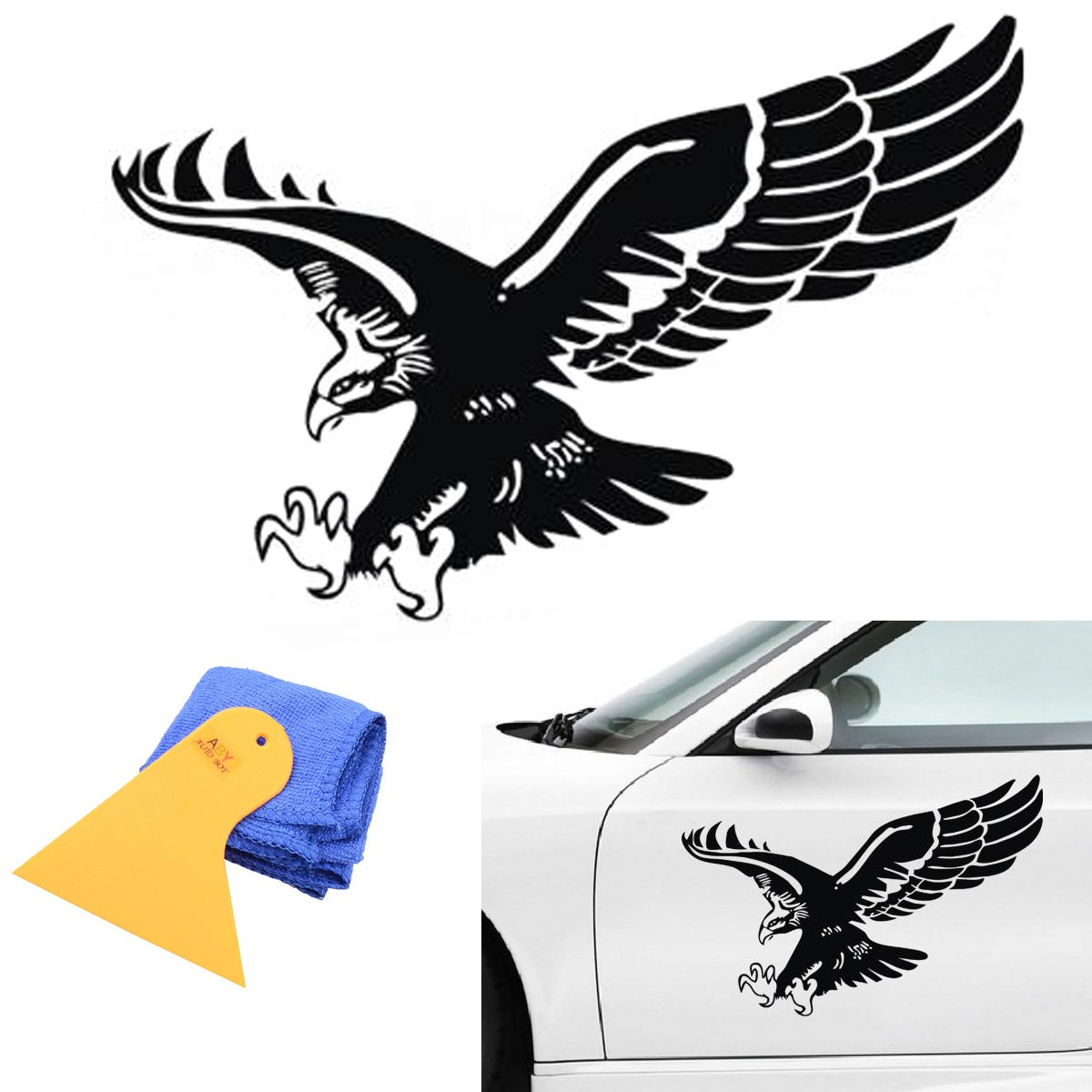 Amazon com: ABy 1 PCS Auto Car Flying Eagle Vinyl Decal