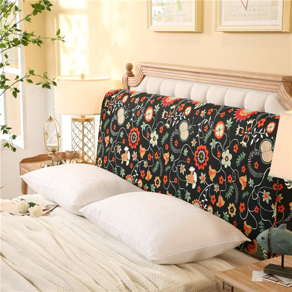 YXCSELL Headboard 200cm Black Print (Chasing Love) Triangle Cushion Filled Soft Wedge Cushion Bed Backrest Positioning Support Reading Pillow Home Office Lumbar Pad by YXCSELL (Image #1)