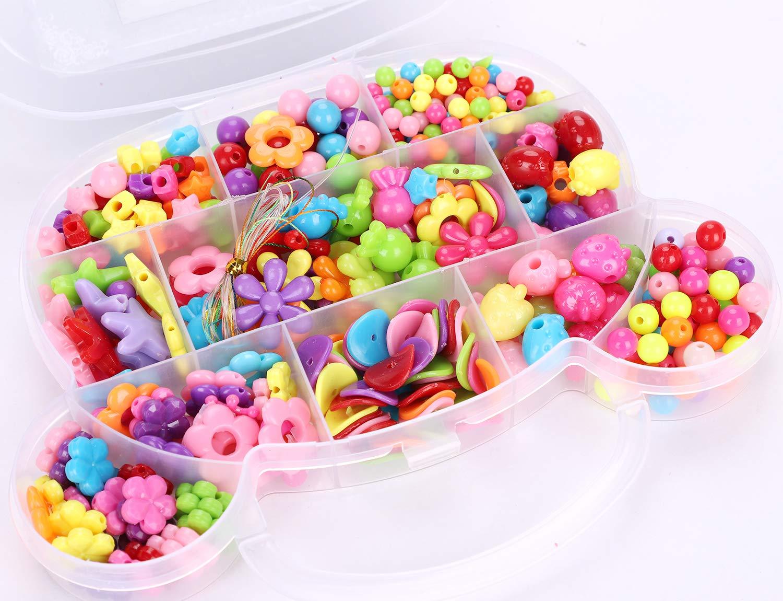 Kids Girls Jewellery Craft Bead Set Diy Art Making Beads Decorate Fuse Box Kit Handmade Colorful Neacklace Bracelet