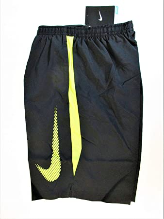 8e1db33208725 Nike Men s Running Shorts Black Neon Yellow Casual Gym Training Inner Brief  827122 010