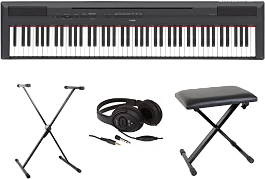 Yamaha Full Pack P115 – Piano digital y portátil de color negro