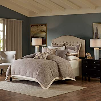 Amazon Com Madison Park Signature Shades Of Grey Queen Size Bed