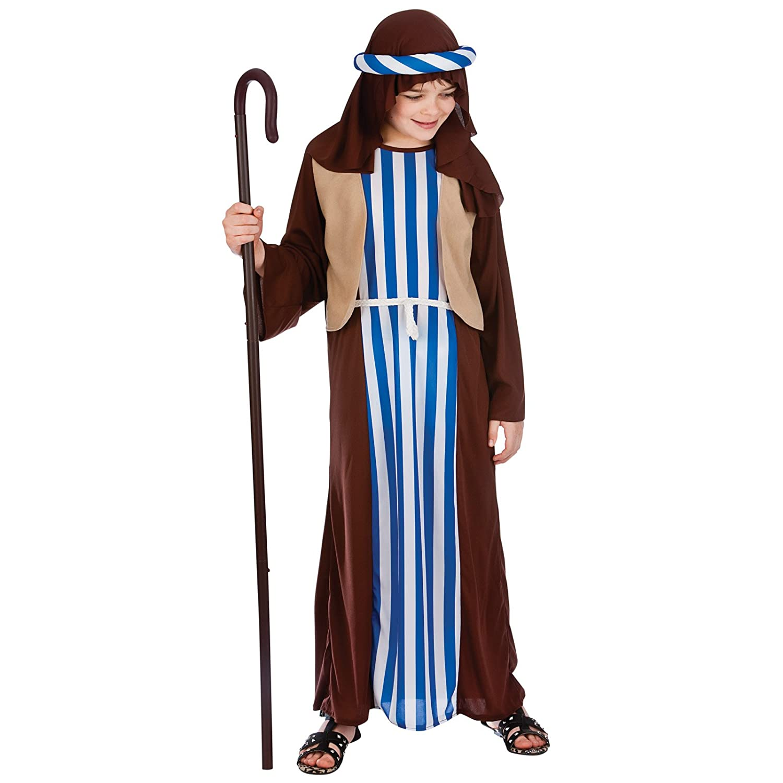 Childrens Joseph Child Nativity Costume Christmas Shepherd Father Fancy Dress Amazon.co.uk Toys u0026 Games  sc 1 st  Amazon UK & Childrens Joseph Child Nativity Costume Christmas Shepherd Father ...
