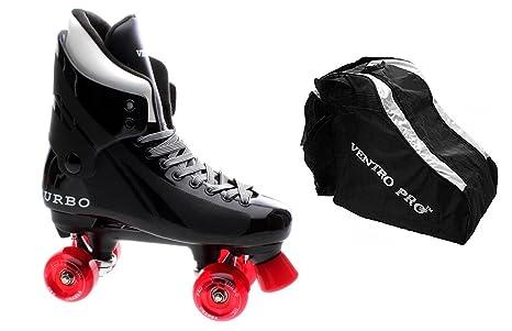 Ventro Pro Turbo Quad patines con ruedas de Skate bolsa rojo tamaño 6