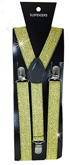 c07663c0487 Image Unavailable. Image not available for. Color  Gold Broadway Glitter  Suspenders